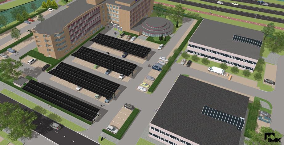 Hier wordt gebouwd aan de Solar Parking